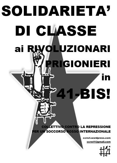 Solidarieta ai riv prig in 41 bis - Locandina CCRSRI.jpg